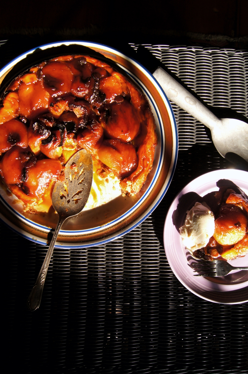 Tarte Tatin with Apples, Raisins, and Rose Water