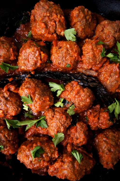 Lamb meatballs with cumin