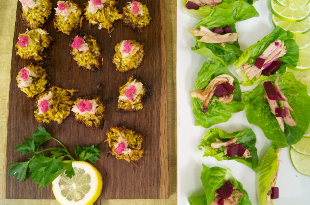 Parsnip Latkes & Butter Lettuce Cups