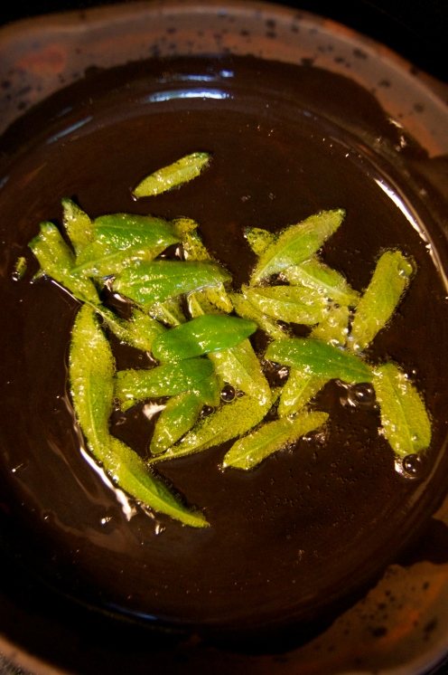 ghee-fried sage