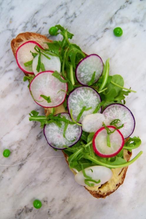 arugula, radishes, turnips