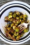 maple-mustard brussel sprouts