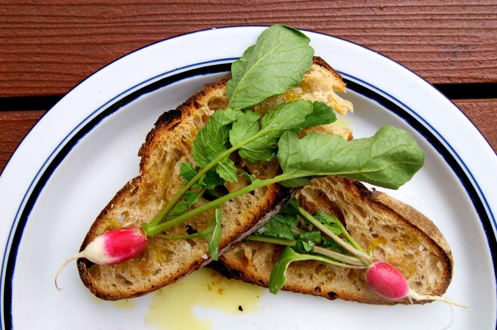 breakfast radish & anchovy toast