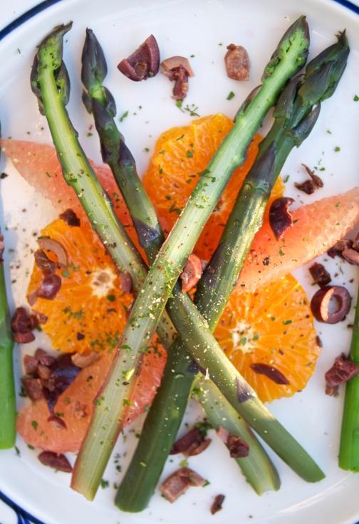 cara cara asparagus olive salad