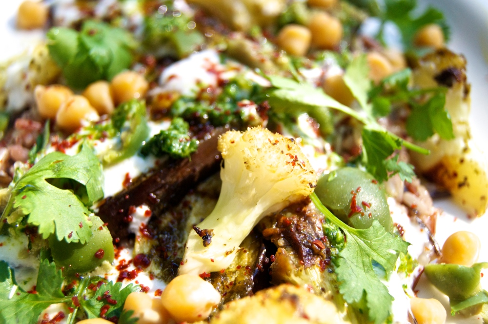 roasted eggplant with chermoula