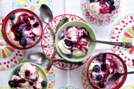buttermilk-blueberry swirl ice cream