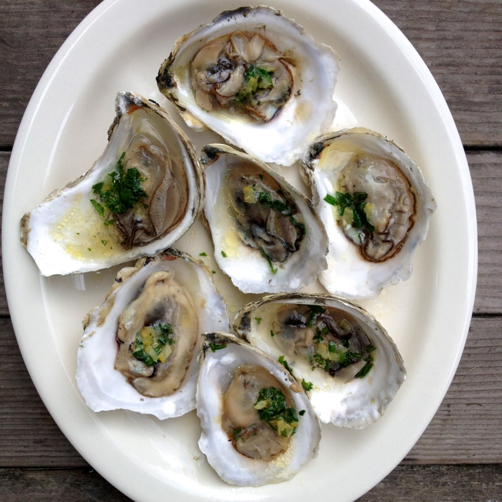 Roasted Oysters with Lemon-Herb Butter