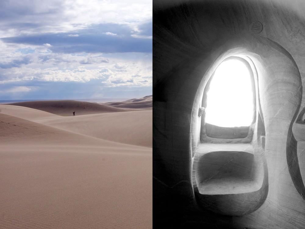 sand on sand